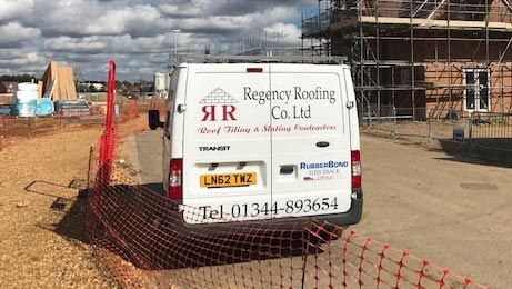 The Regency Roofing Co. Ltd company van